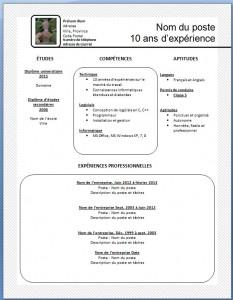 Exemple de CV #4