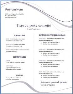 Exemple de CV #25