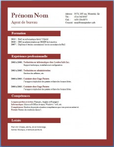Exemple et modèle de CV gratuit #68