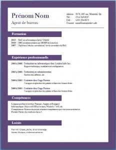 Exemple et modèle de CV gratuit #70