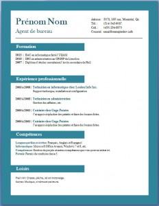 Exemple et modèle de CV gratuit #71