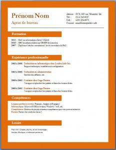 Exemple et modèle de CV gratuit #72