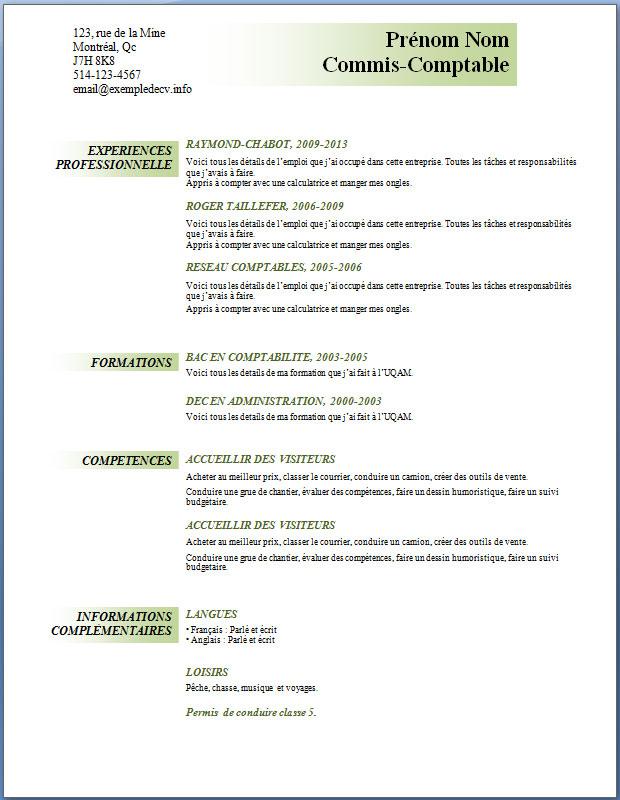 resume format  modele de cv gratuit gratuit