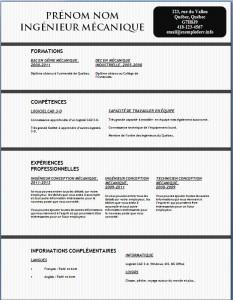Exemple et modèle gratuit de CV #129