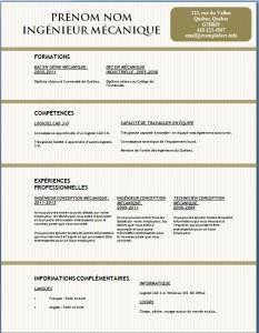 Exemple et modèle gratuit de CV #130