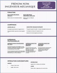 Exemple et modèle gratuit de CV #133