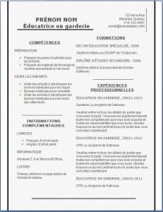 Modèle et exemple de CV #157