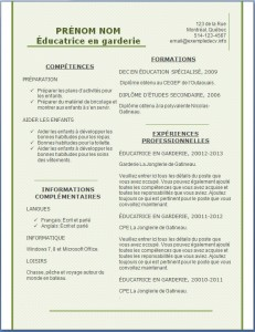 Modèle et exemple de CV #160