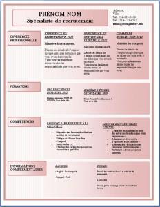 Modèle de l'exemple de CV #173