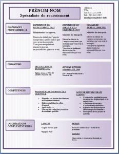 Modèle de l'exemple de CV #175