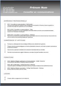 Exemple et modèle de CV gratuit #187