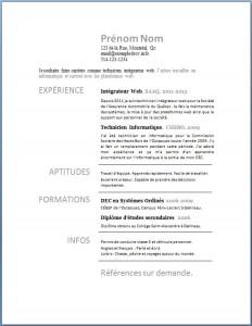 Exemple de CV #203