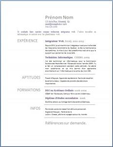 Exemple de CV #206