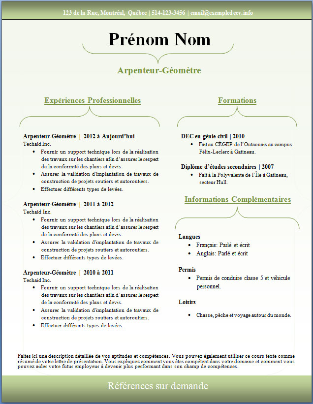Exemple De Cv Joy Studio Design Gallery Best