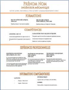 Exemple de CV #350