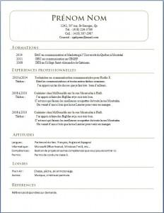 Exemple de CV #417