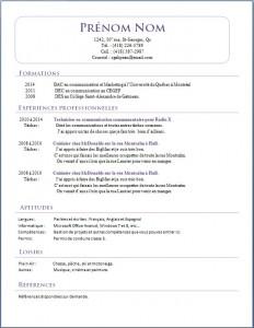Exemple de CV #420