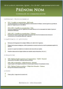 Exemple de CV #464