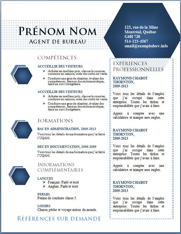 resume format  modeles de nouveaux cv