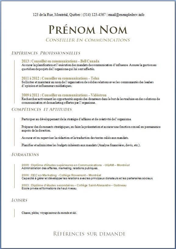 mod u00e8les et exemples de cv  599  u00e0 605  u2013 exemple de cv  info