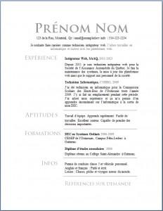 Exemple de CV #620