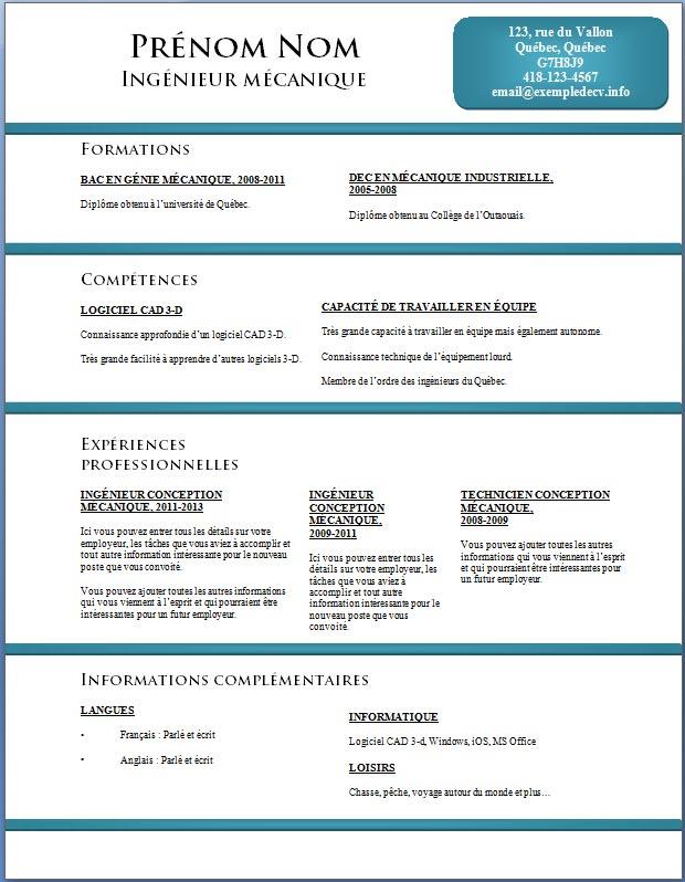 exemple de cv  info  u2013 page 5  u2013 exemples et mod u00e8les gratuits