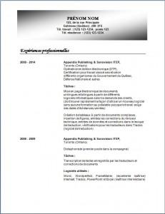 Exemple de CV classique #788