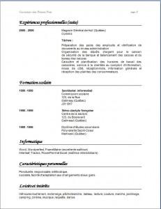 Exemple de CV classique #788 page 2