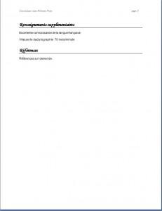 Exemple de CV classique #788 page 3