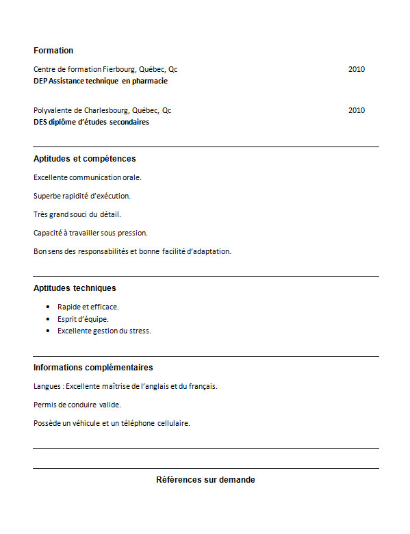 exemple de cv d u2019une assistante ou assistant technique en