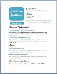 Exemple et modèle de CV gratuit