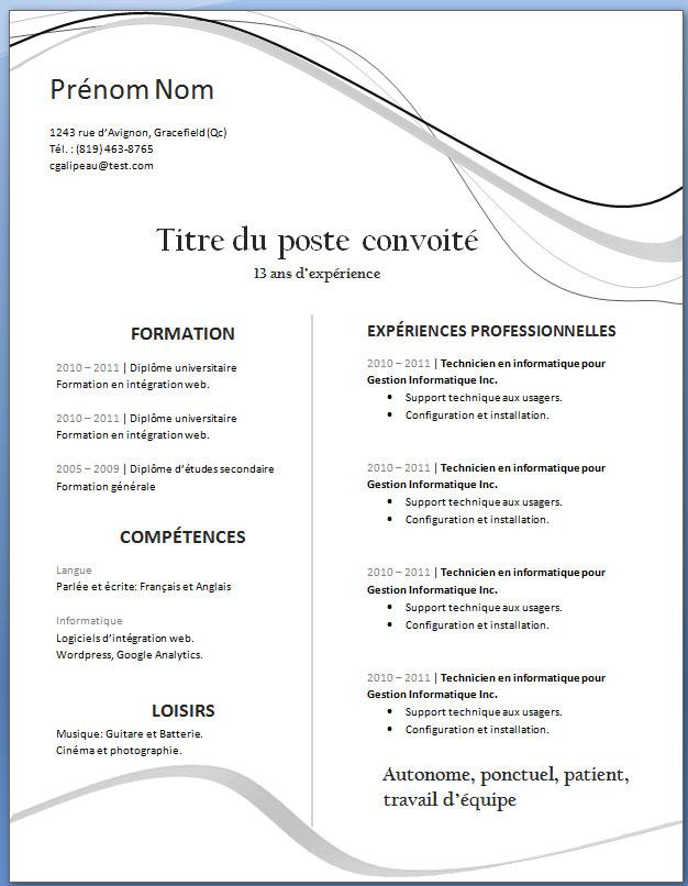 Exemple De Cv 23 Exemple De Cv Info