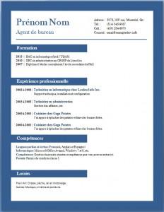 Exemple et modèle de CV gratuit #65