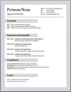 Exemple et modèle de CV gratuit #66