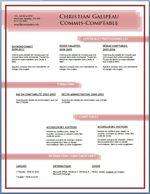exemples et mod u00e8les de cv gratuits  81  u00e0 88  u2013 exemple de cv  info