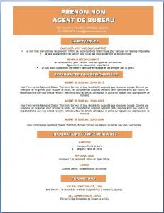 Modèle et exemple de CV word gratuit #120