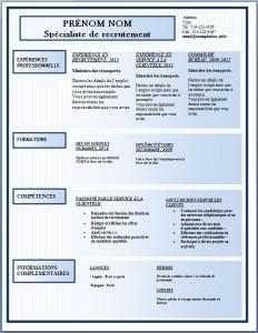 Modèle de l'exemple de CV #170