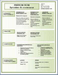 Modèle de l'exemple de CV #174