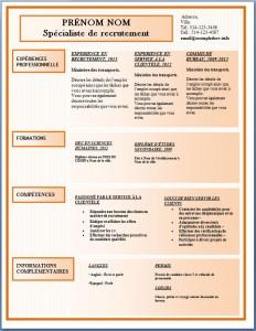 Modèle de l'exemple de CV #176