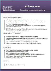 Exemple et modèle de CV gratuit #192