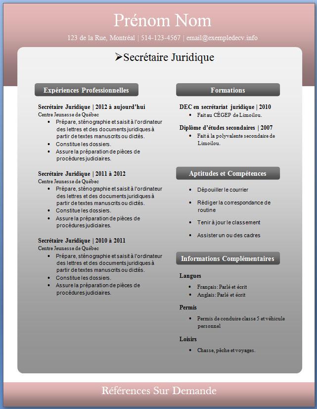 mod u00e8les et exemples de cv  226  u00e0 232  u2013 exemple de cv  info