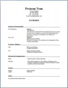 Exemple de CV infirmier infirmière #194