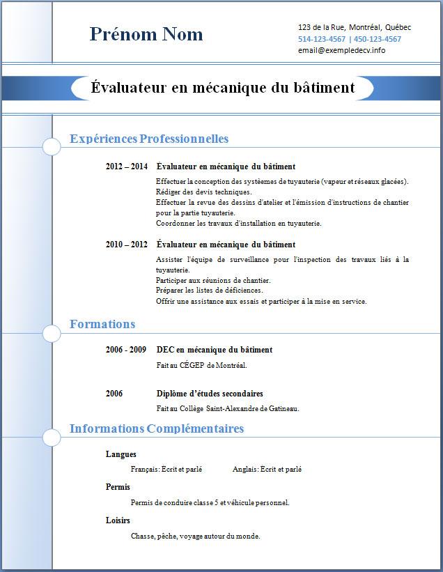 mod u00e8les et exemples de cv  268  u00e0 274  u2013 exemple de cv  info