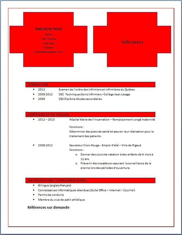 exemple et mod u00e8le de cv  330