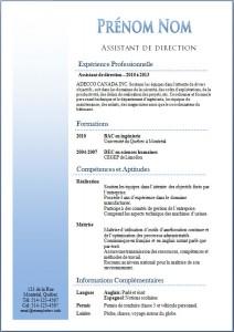 Exemple de CV #352
