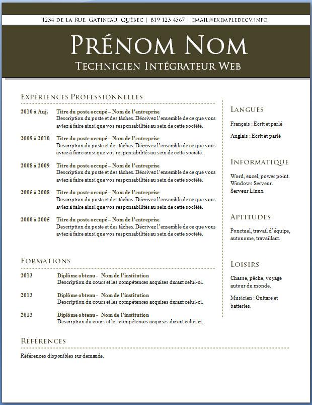 mod u00e8les et exemples de cv  409  u00e0 415  u2013 exemple de cv  info