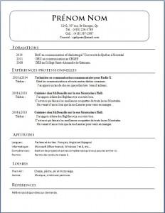 Exemple de CV #422