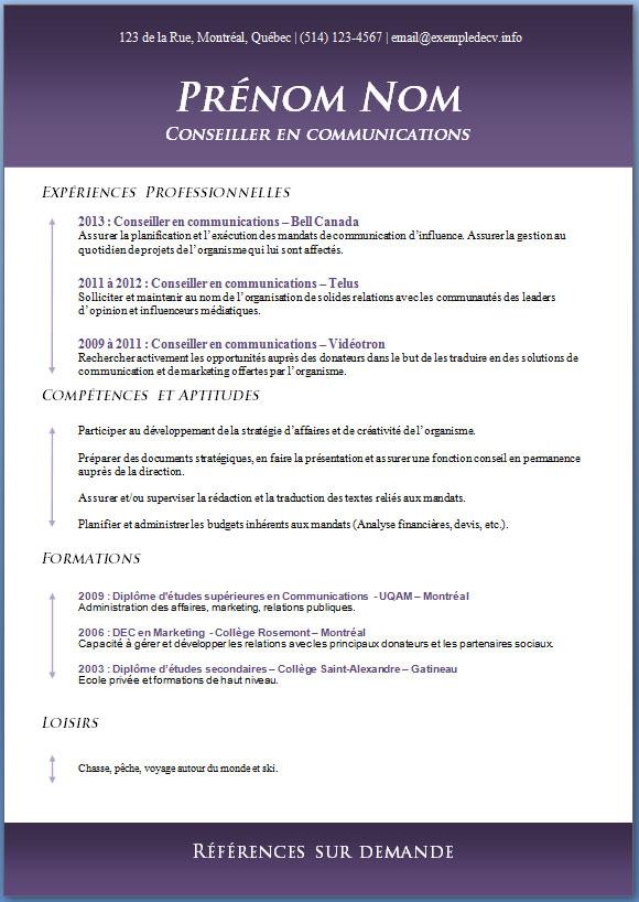 mod u00e8les et exemples de cv  423  u00e0 429  u2013 exemple de cv  info