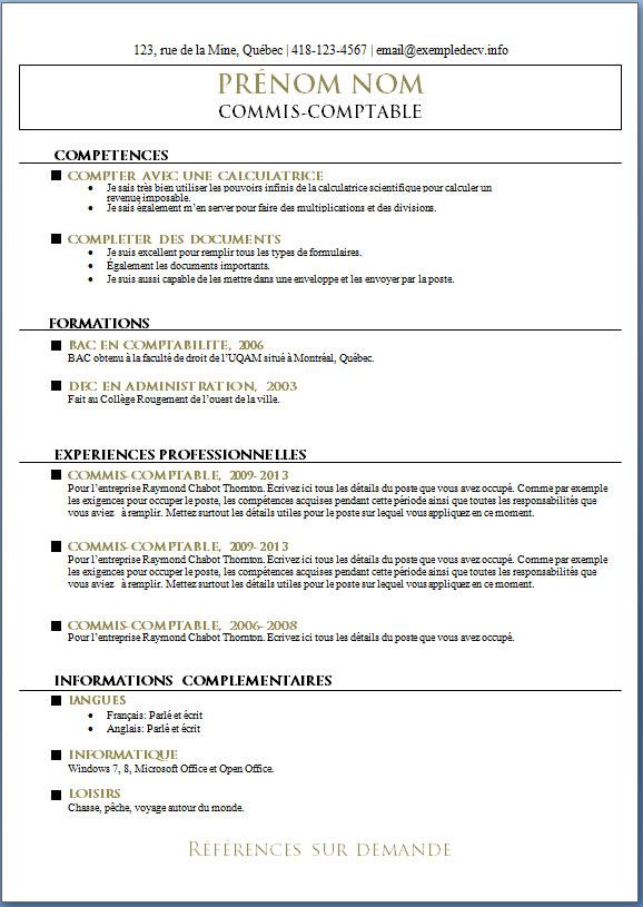 mod u00e8les et exemples de cv  543  u00e0 549  u2013 exemple de cv  info