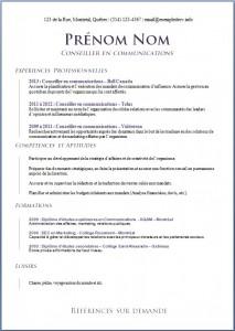 Exemple de CV #604